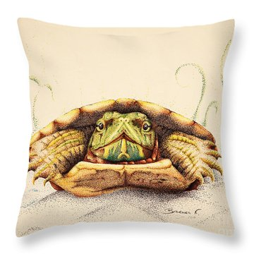 Mr. Flo Throw Pillow