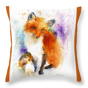 Mr. Fox Throw Pillow by Christy Lemp