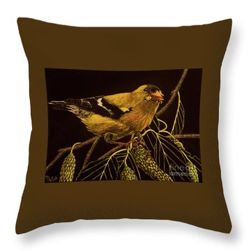 Mr Goldfinch Throw Pillow