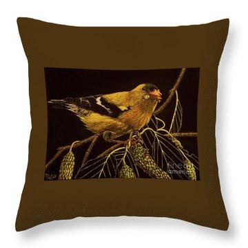 Mr Goldfinch Throw Pillow
