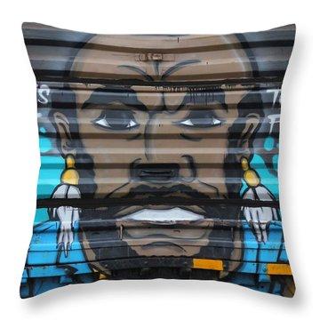 Mr. Graffiti Throw Pillow