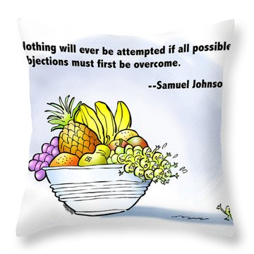 Mr. Grape And Dr. Johnson Throw Pillow