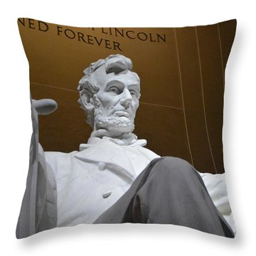 Mr. Lincoln Throw Pillow