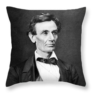 Mr. Lincoln Throw Pillow by War Is Hell Store
