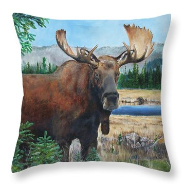 Mr. Majestic Throw Pillow