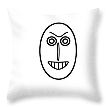 Mr Mf Has A False Smile Throw Pillow