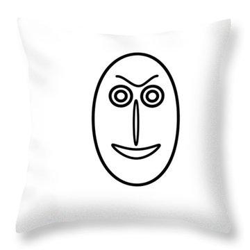 Mr Mf Is A Little Bit Friendly  Throw Pillow