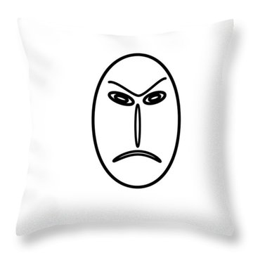 Mr Mf Is An Angry Asian  Throw Pillow