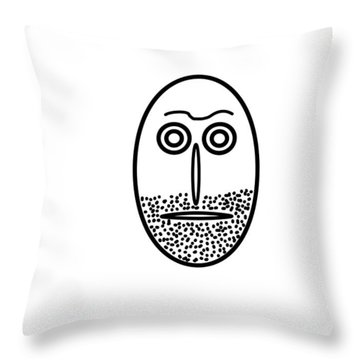 Mr. Mf Is An Unshaved Macho Throw Pillow
