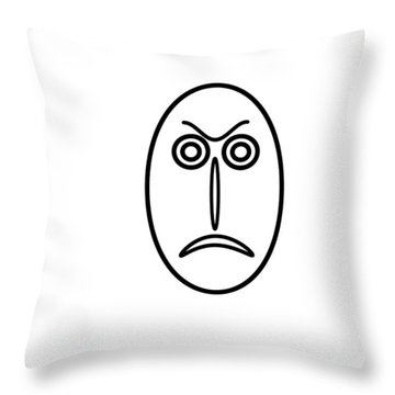 Mr Mf Is Angry Throw Pillow