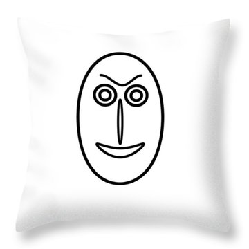 Mr Mf Is Friendly  Throw Pillow
