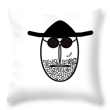 Mr Mf Is Scarface  Throw Pillow