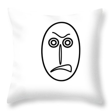 Mr Mf Is Very Angry Throw Pillow