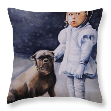 Mr Moonbeams  Throw Pillow by Jean Cormier