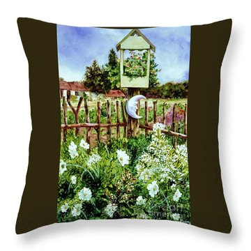 Mr Moon's Garden Throw Pillow
