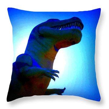 Mr. Rex 2 Throw Pillow by Randall Weidner