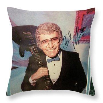 Mr. Sam Phillips Sun Records  Throw Pillow