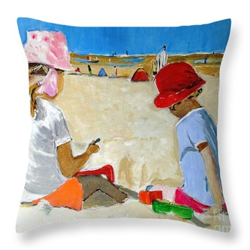 Mr. Sandman Throw Pillow by Judy Kay