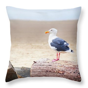 Mr. Seagull Throw Pillow