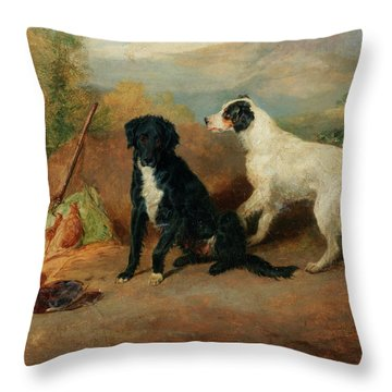 Mr Stott's Favourite Dogs Throw Pillow