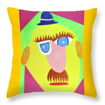 Mr. Strangefellow Throw Pillow by Thomas Blood