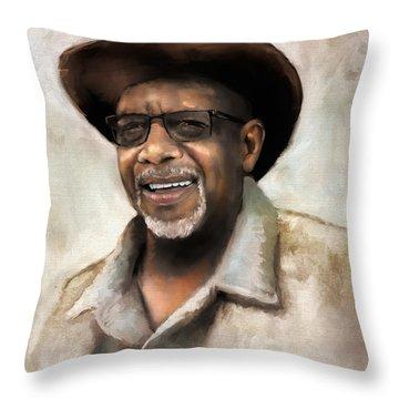 Throw Pillow featuring the digital art Mr. Wilson by Dwayne Glapion