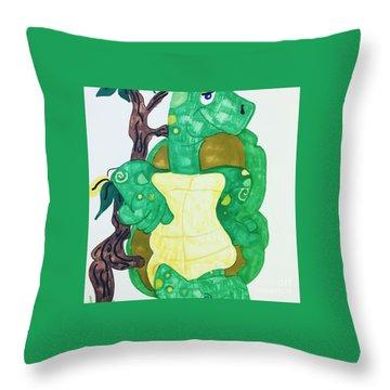 Mr. Turtle  Throw Pillow