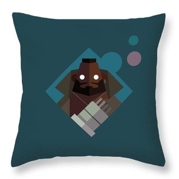 Throw Pillow featuring the digital art Mr. Wallace by Michael Myers