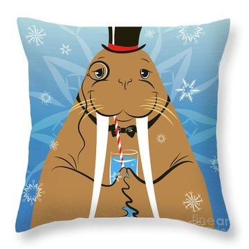Mr. Walrus Throw Pillow