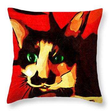 Mr. Wiggins Throw Pillow by Iowan Stone-Flowers