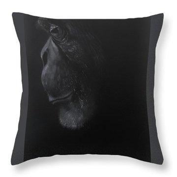 Mr.chimp Throw Pillow