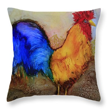 Mr.rooster Throw Pillow