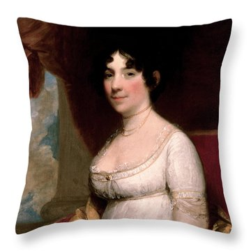 Mrs Dolley Madison, 1804 Throw Pillow