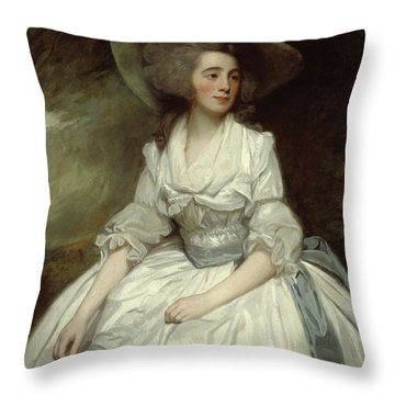 Mrs Francis Russell Throw Pillow
