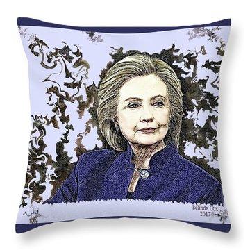 Mrs Hillary Clinton Throw Pillow