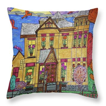 Mrs. Robert Stephenson Home. Throw Pillow
