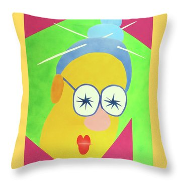 Mrs. Strangefellow Throw Pillow by Thomas Blood