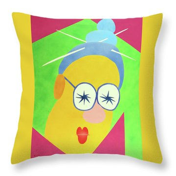 Mrs. Strangefellow Throw Pillow