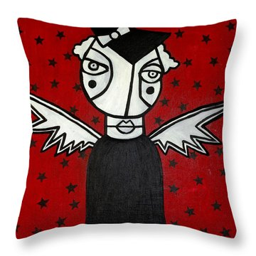 Mrs.creepy Throw Pillow