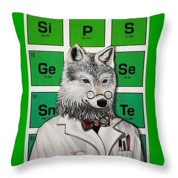 Throw Pillow featuring the painting Mr.tulamordue by Jude Labuszewski
