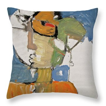 Throw Pillow featuring the painting Ms Abby Strac Had One Good Eye by Cliff Spohn