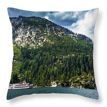 M.s. Dixie II, Lake Tahoe, Ca Throw Pillow