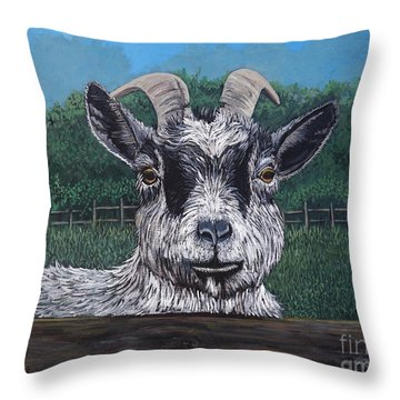 Ms Frisky  Throw Pillow