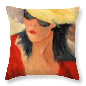 Ms Hollywood  Throw Pillow