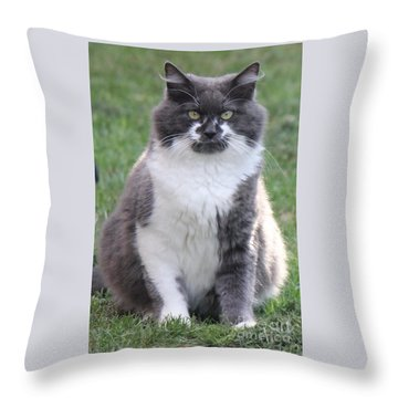 Ms. Mustache Throw Pillow