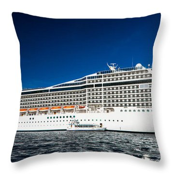 Msc Poesia Throw Pillow by Christopher Holmes