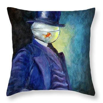 Mssr. Fishhead Throw Pillow