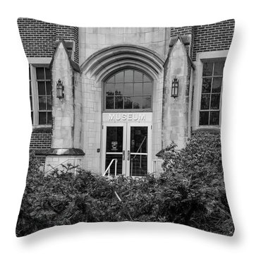 Msu Museum Black And White  Throw Pillow