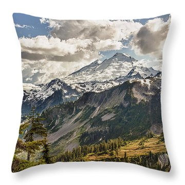 Mt Baker Panoramic Throw Pillow