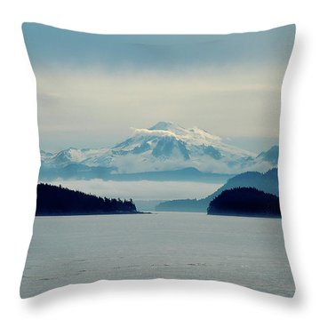 Mt. Baker Washington Throw Pillow